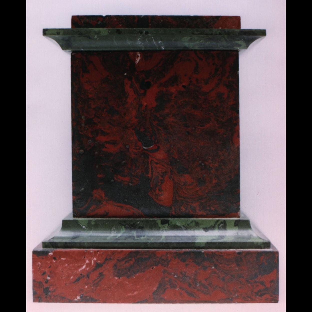 Scagliola plinth