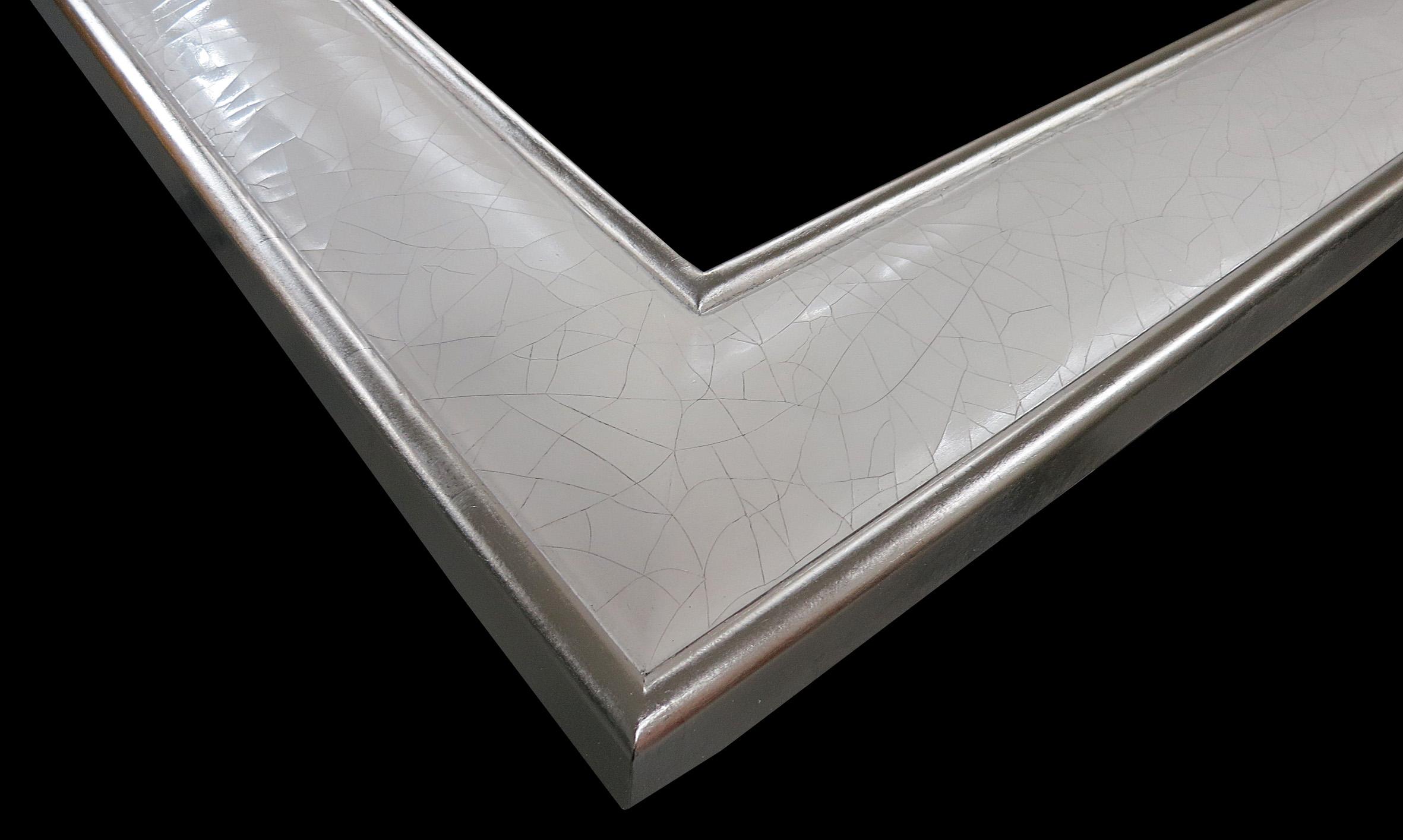 White Crackle Gesso frame