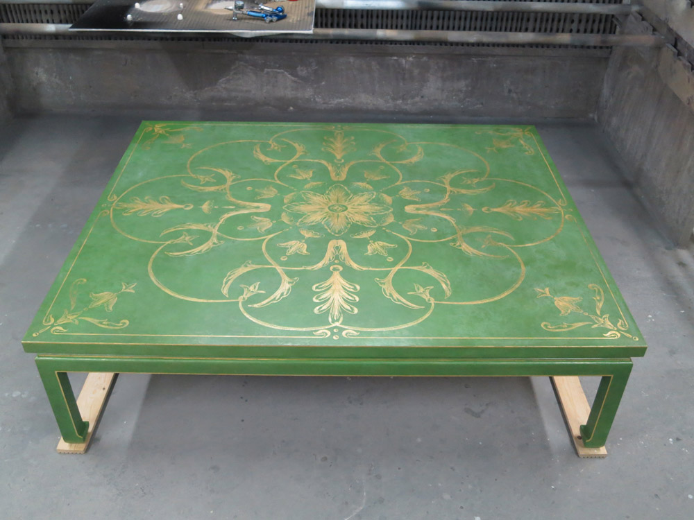 Painted and gilt table
