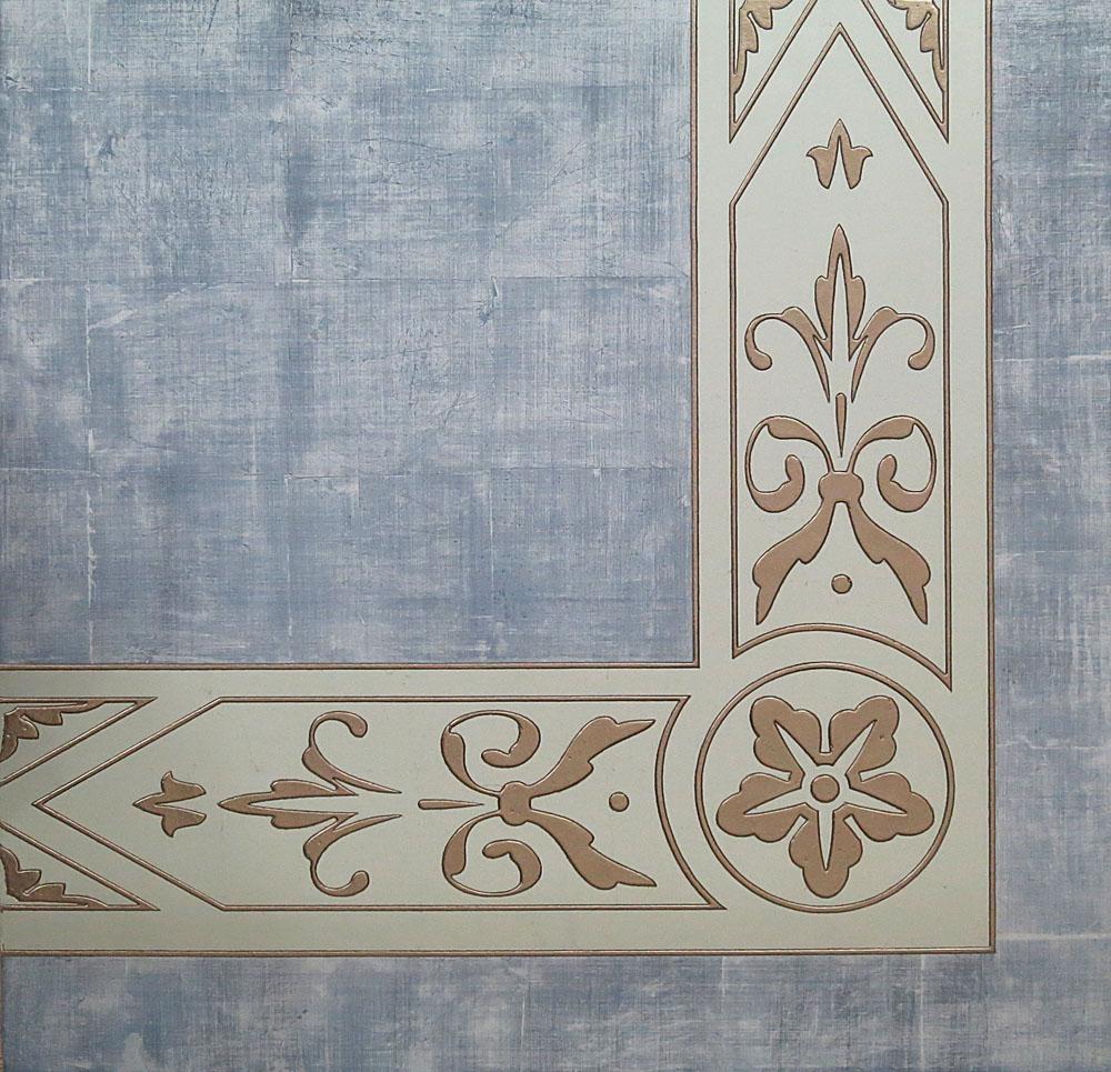 Carved glass border
