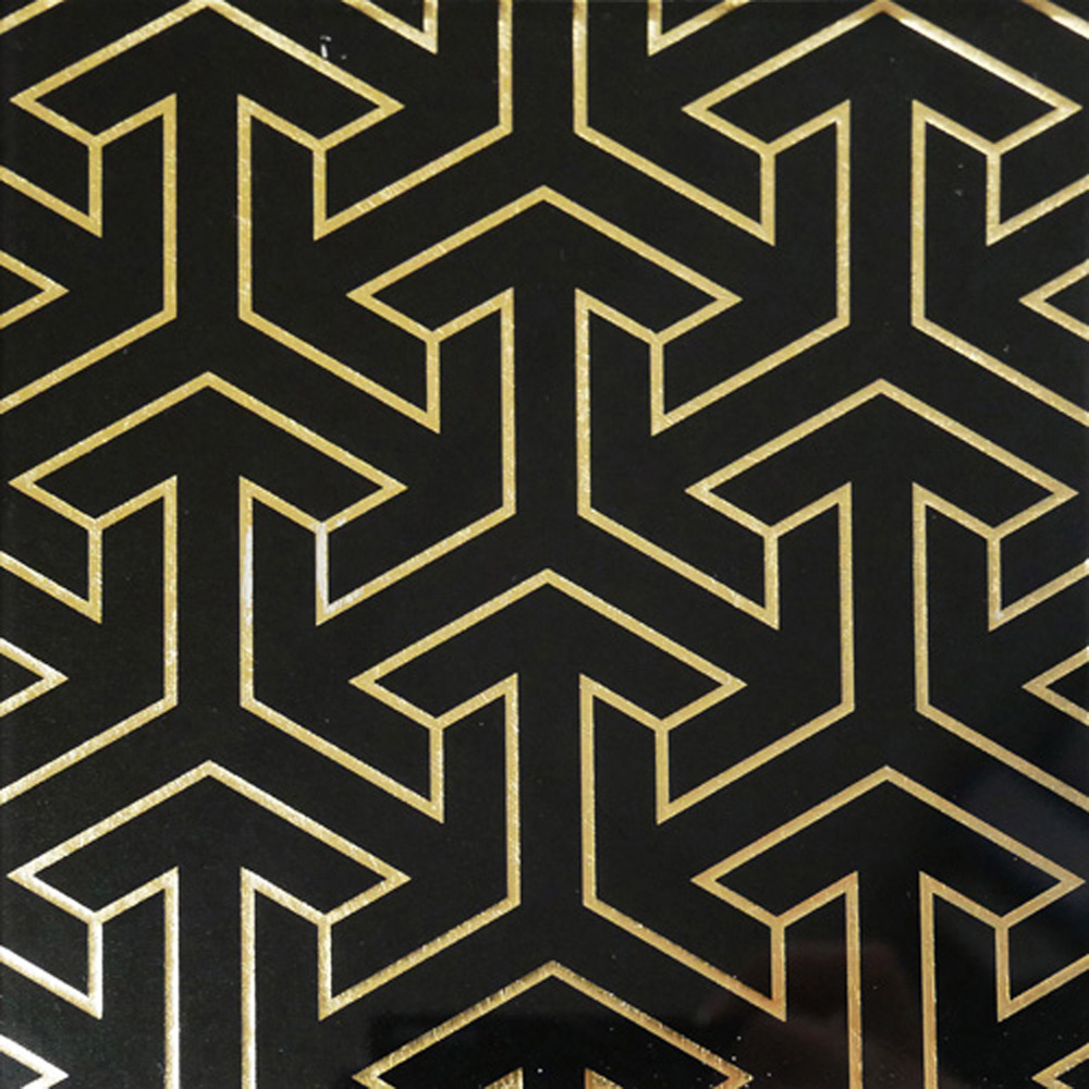 Black and Gold Tesselation
