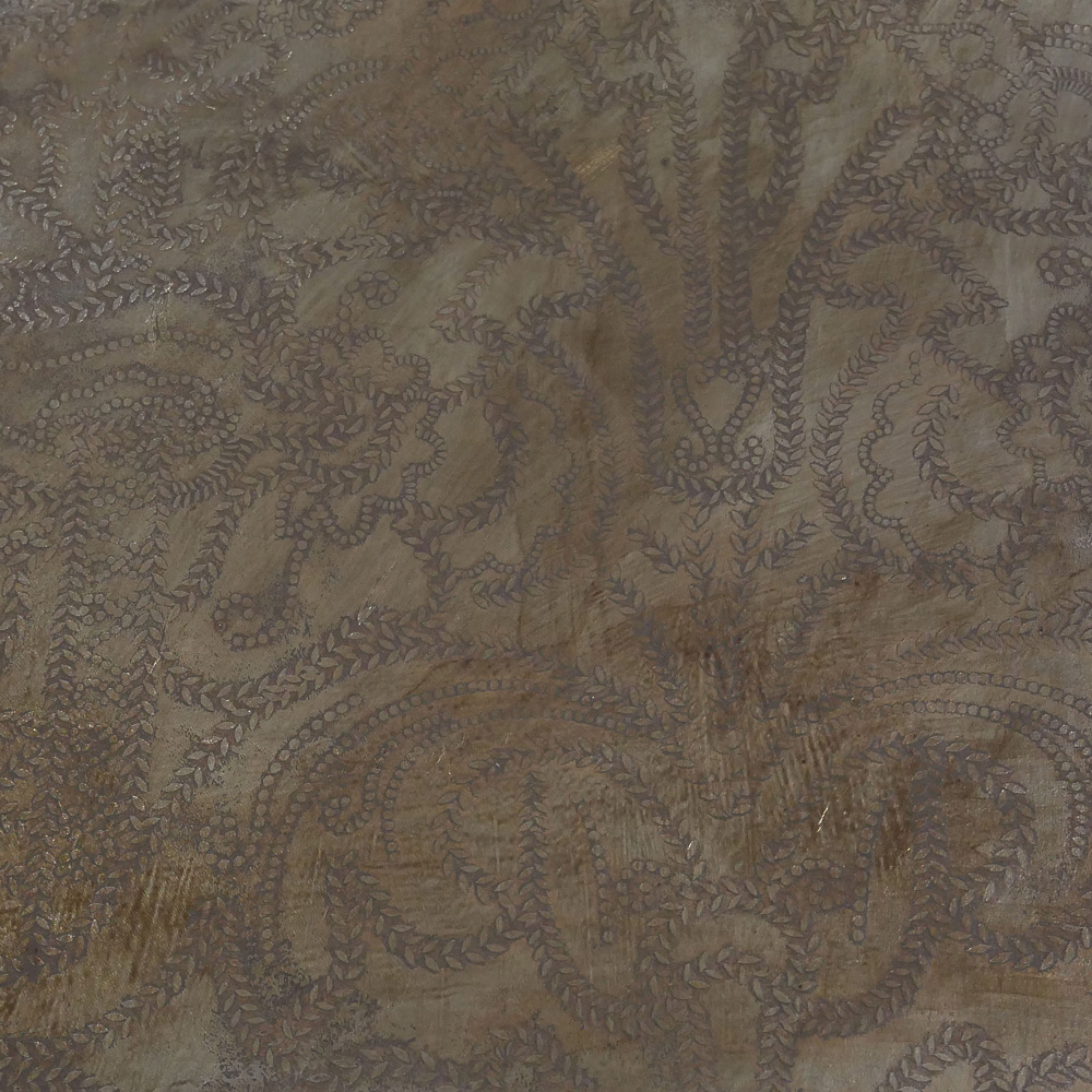 Bronzed embossed leather
