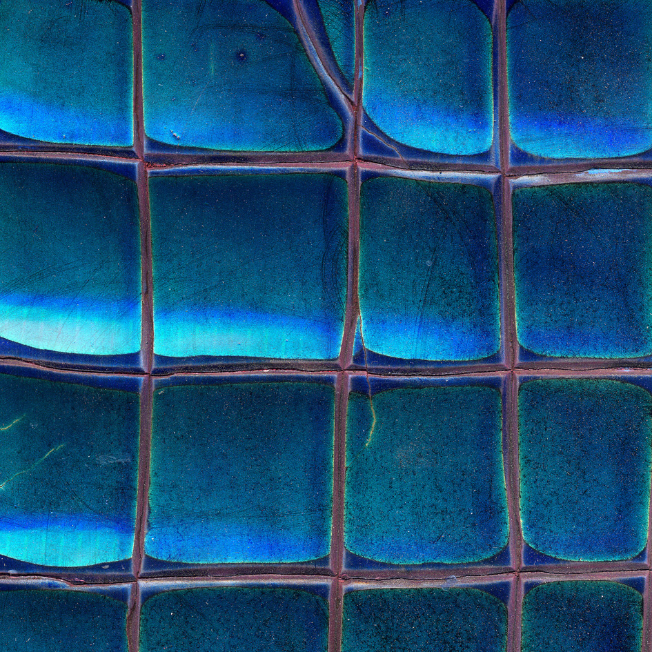 Egyptian blue crackle gesso