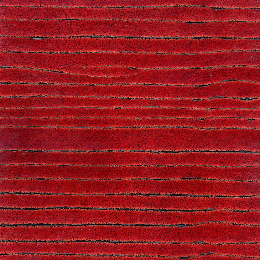 Blood Red Crackle Gesso