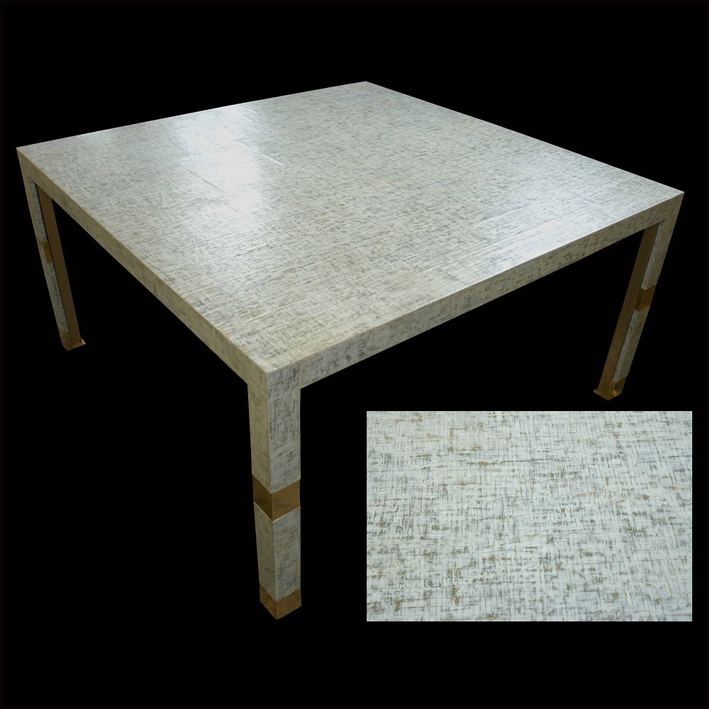 Crackle Gesso Table