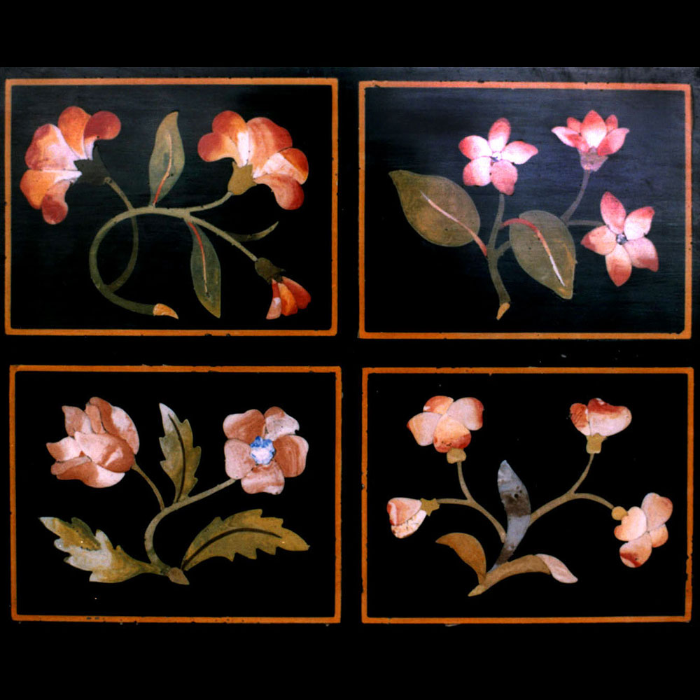Scagliola Panel Flowers