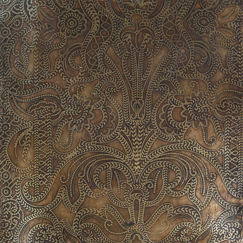 Embossed leather panel