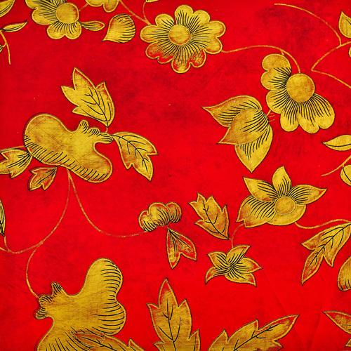 Oriental floral lacquer