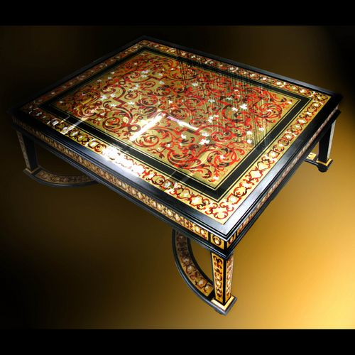 Eglomise Glass Table