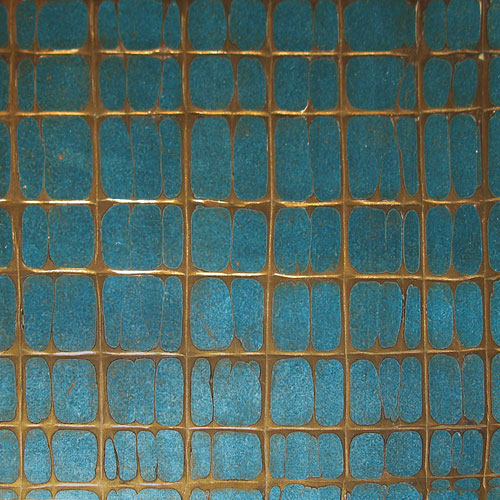 Blue & Bronze Crackle Gesso