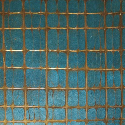 Blue & Bronze Crackle Gesso