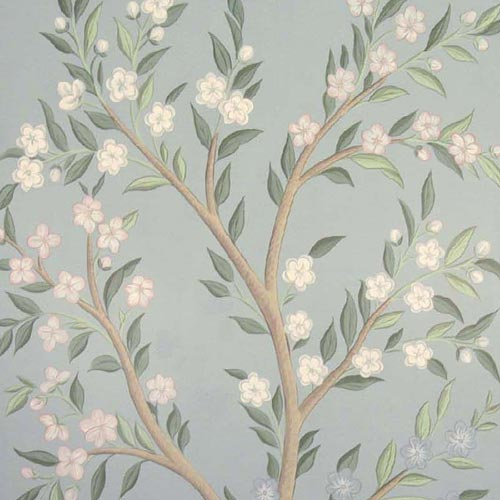 Hand Painted Wallpaper