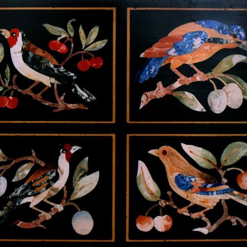 Scagliola Panel Birds
