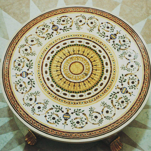 Scagliola Table Top round