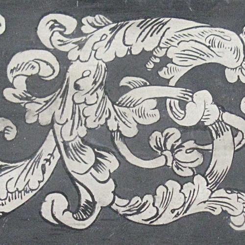 Scagliola scrolls